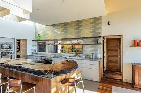 View in gallery Midcentury kitchen with gray and yellow subway tiles  [Design: Hudson Street Design]