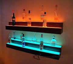 wall bar shelf wall bar shelf bar wall shelves 1 tier led floating shelf lighted