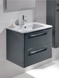 ramia gloss grey 60cm vanity unit 2 drawer and basin