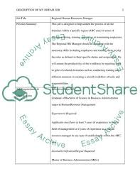 Creating Your Dream Job Essay Example Topics And Well