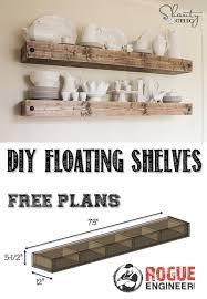 diy floating shelves free plan rogue engineer