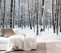 snow forest mural wappaper 12