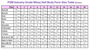 Missy Dress Form With Hip Industry Grade 601