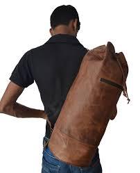 vintage ameribag brown rugged 22 leather medium sling purse ergo bag backpack