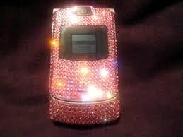 motorola razr flip phone pink. swarovski crystal motorola razr v3 flip phone pink