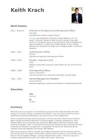 Chairman Of The Board And Chief Executive Officer Resume samples