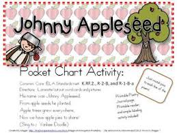 Apple Tree Pocket Chart Johnny Appleseed Pocket Chart Poem Set With Printable Reader