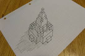 3d Buildings On Grid Paper 6 Steps With Pictures