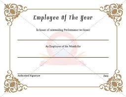 Best Employee Award Certificate Templates Best Employee Award ...