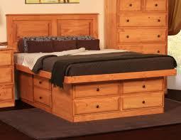 Image of: Platform Storage Bed Queen Plans