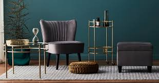the big w velvet arm chair and ottoman you need to live your winter best