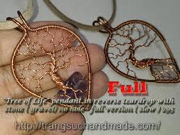 tree of life pendant in reverse