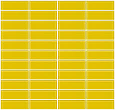glass tile 1x3 inch bright yellow glass subway tile stacked what is le subway tile