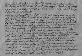 agenealogy flower research copy of flower compact as written by wm bradford in history of plymouth plantation original of bradford s text is believed