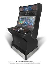 32 upright xtension arcade cabinet for the x arcade tankstick gaming console xtension arcade cabinet at recroom masters