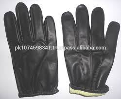 fire and cut resistant leather tactical gloves military army police leather gloves