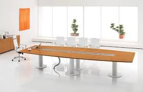 modern conference table  the media news room