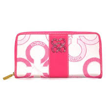 Coach Waverly Flower Charm Large Pink Wallets EEK