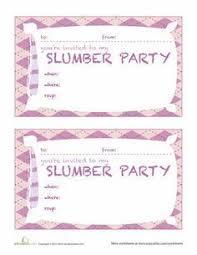 Slumber Party Invitations Templates Free Anexa Cloud