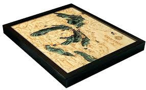 great lakes wood s great lakes 3 d nautical wood chart large great lakes