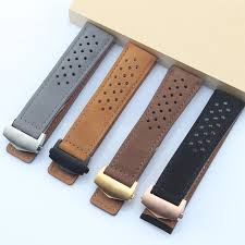 22mm 24mm mate genuine leather watch strap black brown blue watchbands for tag carrera heuer link monaco aquaracer wristband 24mm watch band silicone watch
