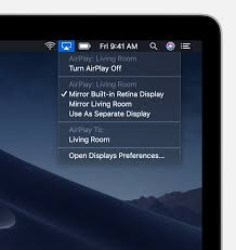 use airplay to stream or mirror