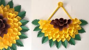 Hang The Charts On The Wall Paper Wall Hanging Diy Paper Sunflower Wall Hanging Ideas Wall Decor Ideas