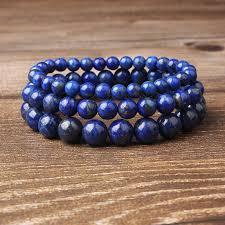 <b>LanLi</b> 8mm <b>fashion Natural</b> Jewelry Blue Lapis Lazuli stones beads ...