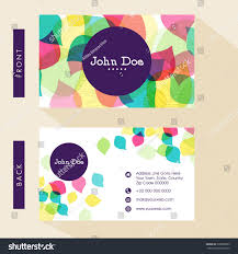 Business Card Visiting Card Design Front Stock Vector Royalty Free