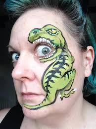 i can t wait to try this dinosaur face paint design on a little boy
