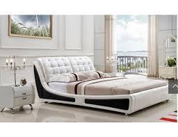 white modern platform bed. Cosenza Black And White Platform Bed Modern