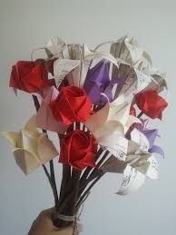 i love you everlast origami flowers bouquet valentine bouquet pick and mix from rose lily tulip any colour any paper 15 stems