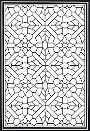 Stained Glass Coloring Pages Stain Glass Coloring Pages Geometric