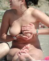 Nude Beach Sexy Voyeur Busty Brunette