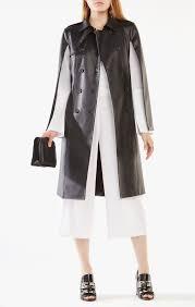 lambert faux leather cape trench coat bcbg