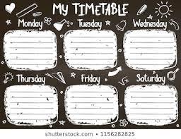 1000 School Timetable Stock Images Photos Vectors