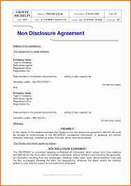 Simple Nda Template Free Nda Form Sample Free Patent Invention Non Disclosure Agreement