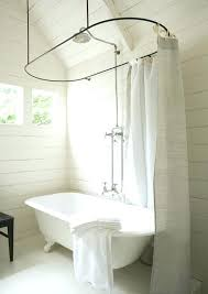 clawfoot bathtub shower curtain bathtubs perfect claw foot tub and shower love the shower head in