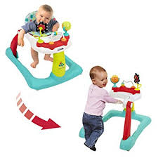 Amazon.com : Kolcraft Tiny Steps 2-in-1 Activity Walker -Seated or ...
