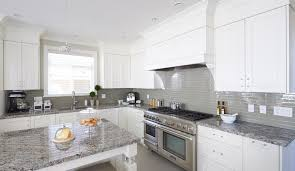 granite countertop ideas for white cabinets. white cabinets, grey glass backsplash and med granite. with dark wood floors would look amazing! granite countertop ideas for cabinets f