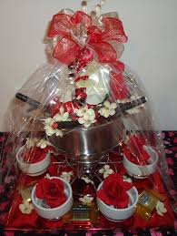 fondue pot valentine gift basket