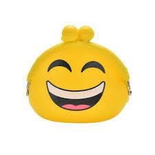 emoji silica gel coins bag round emotion smiley doll makeup storage pouch handbag cod