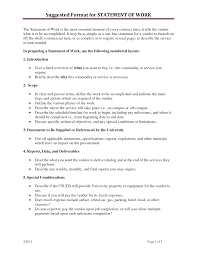 Simple Statement Of Work Template Statement Of Work Template Sanjonmotel