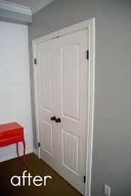 how to replace sliding closet doors with standard doors tutorial great updated look