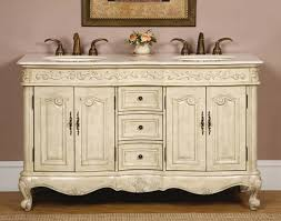 58 silkroad ella double sink cabinet bathroom vanity white oak finish marble hyp 0145 cm uic 58