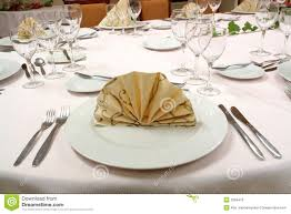 Setting A Dinner Table Dinner Table Setting Royalty Free Stock Photos Image 3269418