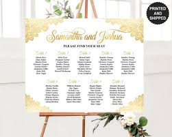 Gold Lace Seating Chart To Buy In 2019 Wedding Table