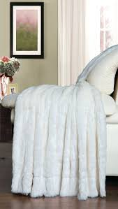 faux fur duvet cover queen creme white double sided faux fur throw blanket super soft for
