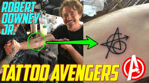 Robert Downey Jr Gets An Avengers Tattoo Marvel