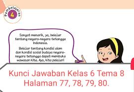 Jun 11, 2021 · kunci jawaban tema 9 kelas 5 sd halaman 104, 105, 106, 107, 108, 109, dan 110 dalam buku tematik subtema 2 pembelajaran 5. Kunci Jawaban Buku Tematik Siswa Kelas 6 Tema 8 Subtema 2 Pembelajaran 4 Halaman 77 78 79 80 Info Pesilat